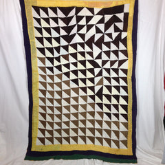 'ORDER TO CHAOS' HAND-MADE PATCHWORK QUILT