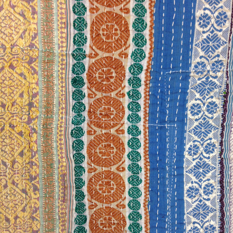 UNIQUE KANTHA QUILT / RUG JAIPUR, RAJASTHAN INDIA