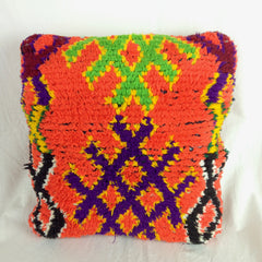 MORROCCO, TISSARDMINE | HANDWOVEN & KNOTTED BERBER NOMAD CUSHIONS 49cm x 49cm approx