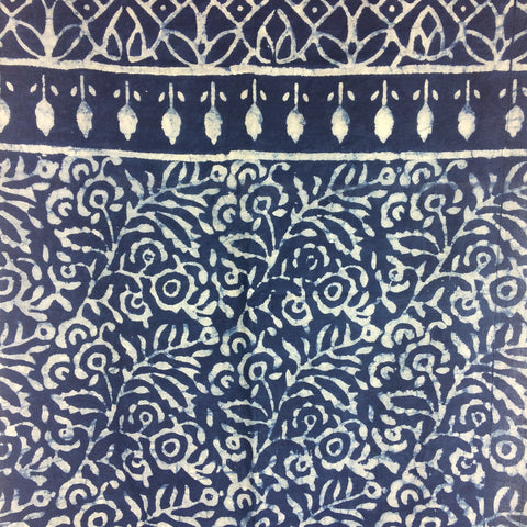 HAND BLOCK-PRINTED COTTON SCARF JAIPUR, RAJASTHAN, INDIA