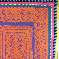 BRIGHT HAND-STISCHED REVERSE APPLIQUE RALI (QUILT/THROW) MADE BY MEGHWAR TRIBAL WOMRN, SINDH, PAKISTAN