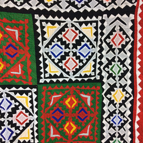 BRIGHT SINDH TOOH VILLAGE QUILT, PAKISTAN