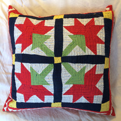 UNIQUE PATCHWORK AND APPLIQUE CUSHIONS MADE BY HINDU MEGHWAR, PAKISTAN