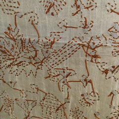 Traditional West Bengali hand-embroidered, Kantha pure silk scarf or shawl