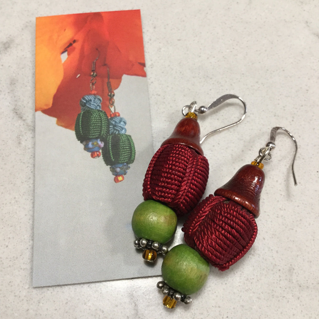 MOROCCO | HANDMADE JELLABA BUTTON EARRINGS BY ARTIST JESSICA STEPHENS