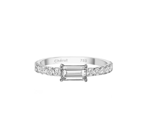EAST WEST DIAMOND BAGUETTE RING