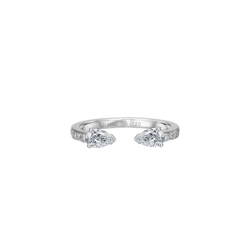 PEAR DIAMONDS OPEN RING