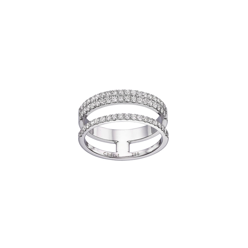 3 ROW PAVÉ RING - Chérut FINE JEWELRY