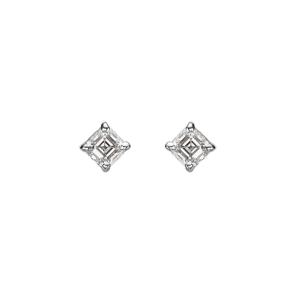 ASSCHER DIAMOND SINGLE STUD EARRING