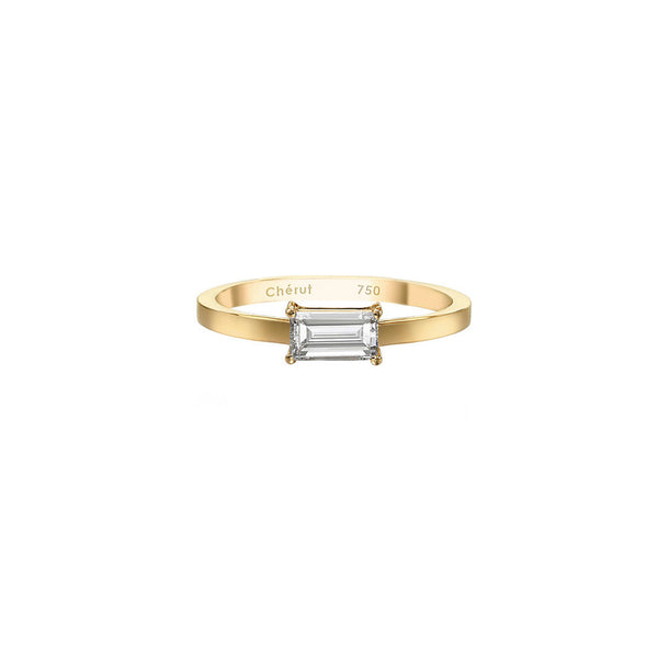 BAGUETTE DIAMOND SOLITAIRE RING - Chérut FINE JEWELRY