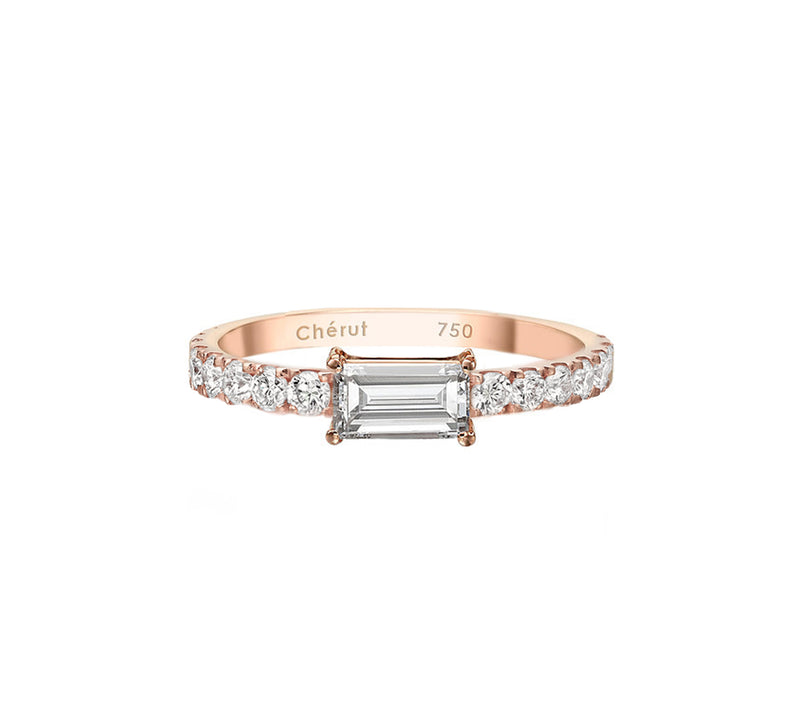 EAST WEST DIAMOND BAGUETTE RING - Chérut FINE JEWELRY