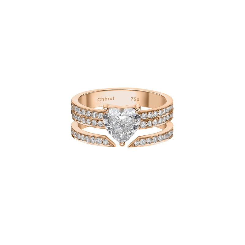 BIG HEART RING - Chérut FINE JEWELRY