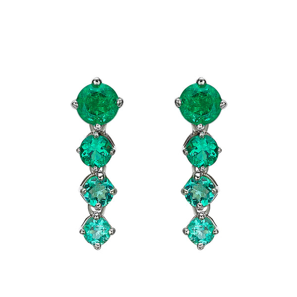 CHAINED OMBRE EMERALD EARRINGS