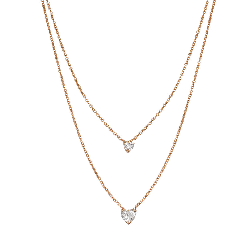 2 HEARTS DIAMOND NECKLACE - Chérut FINE JEWELRY