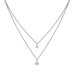 2 PEARS DIAMOND NECKLACE - Chérut FINE JEWELRY