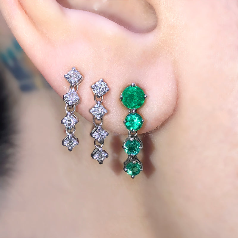CHAINED BRILLIANT DIAMOND EARRINGS