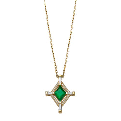 ONE OF A KIND HOLY EMERALD NECKLACE