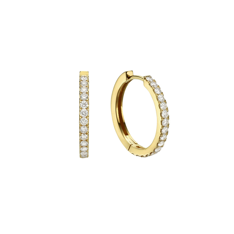 LARGE DIAMOND HOOP EARRINGS - Chérut FINE JEWELRY