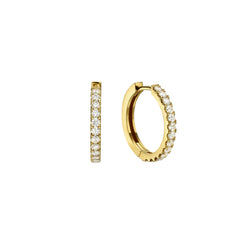 SMALL DIAMOND HOOP EARRINGS - Chérut FINE JEWELRY