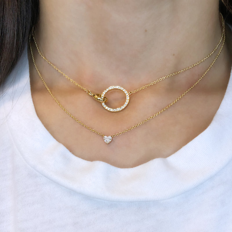 CIRCLE DIAMOND CHOKER