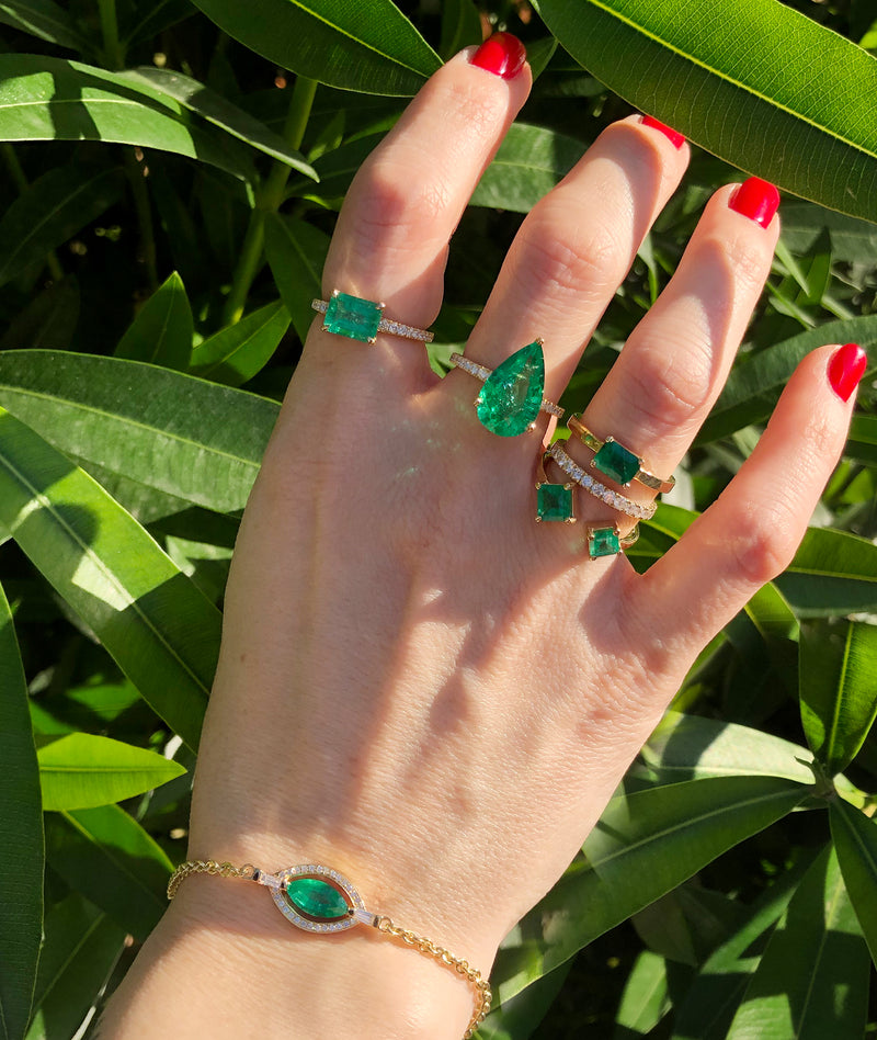 HOLY MARQUISE EMERALD BRACELET SAMPLE