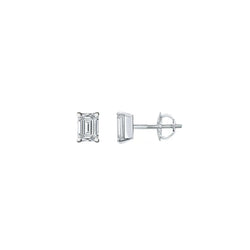 SMALL EMERALD CUT DIAMOND STUDS