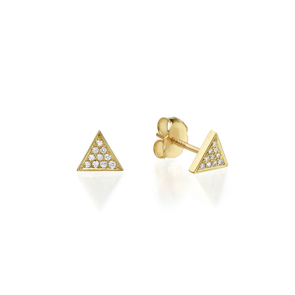 TRIANGLE DIAMOND STUD EARRINGS