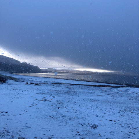 Snow Tralee Beach Argyll Scotland