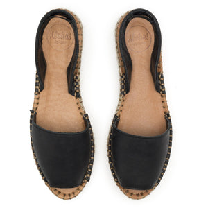 Ibizas Black Platform Espadrilles Leather 3