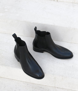 NYC - Chelsea Leather Boots - Black