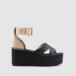 Kuko Black and White Espadrille ALOHAS