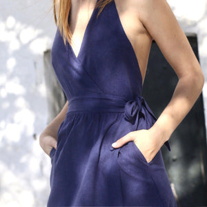 Lazy Dress Navy Dress ALOHAS
