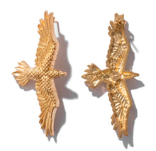 Load image into Gallery viewer, Gold plated bird earrings