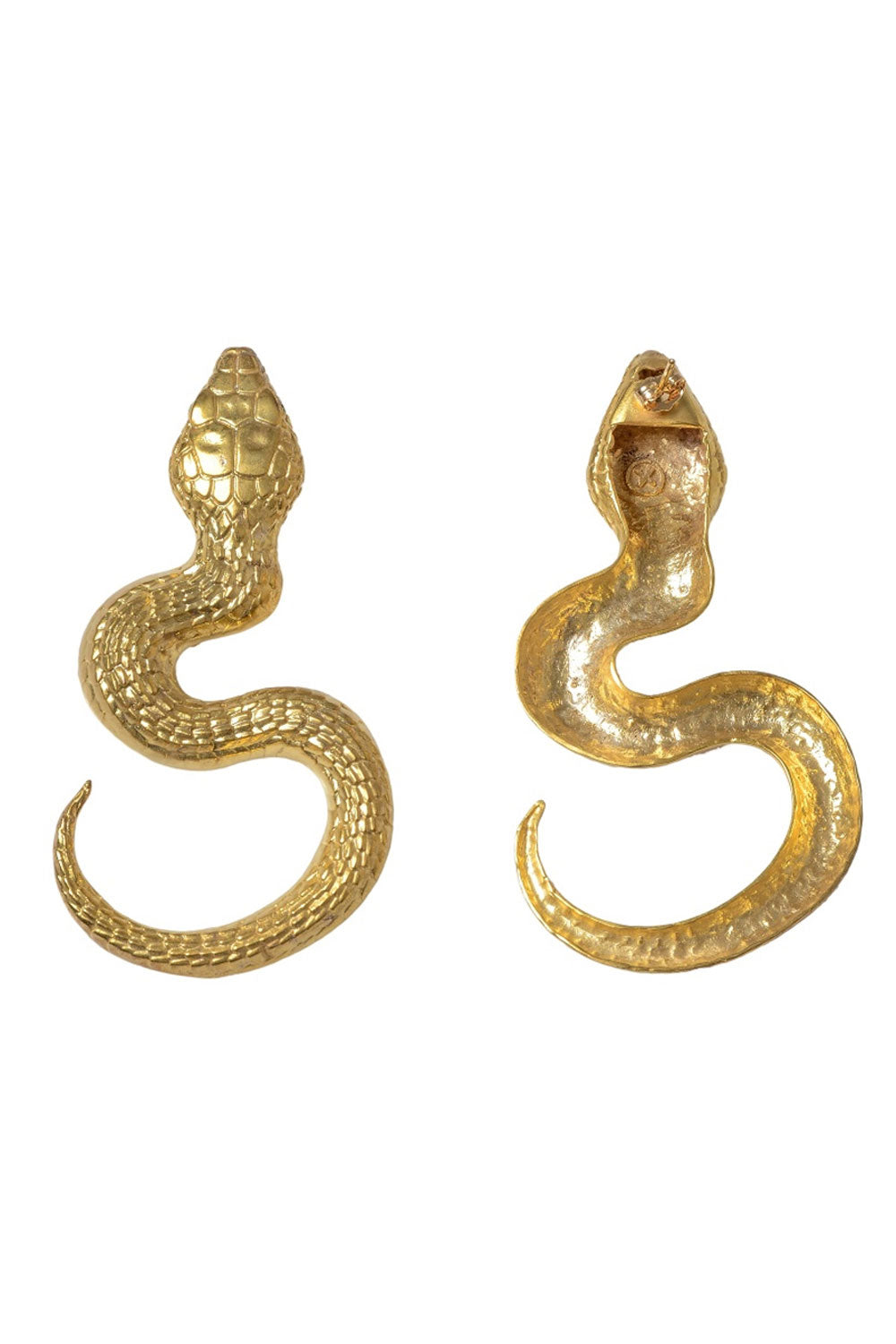 Gold plated snake earrings new