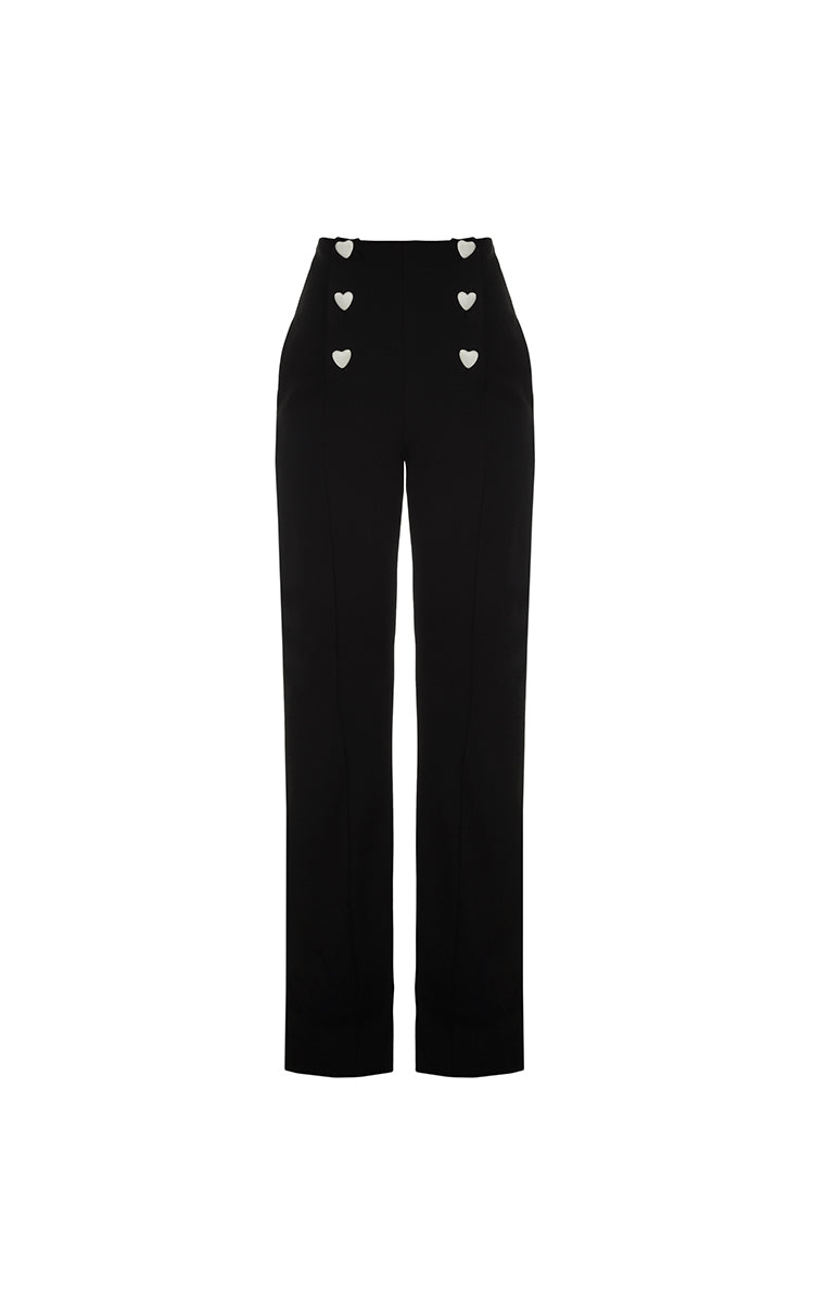 Tailored High-Rise Heart Pant