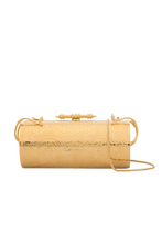 Load image into Gallery viewer, Felucca Embossed brass gold clutch