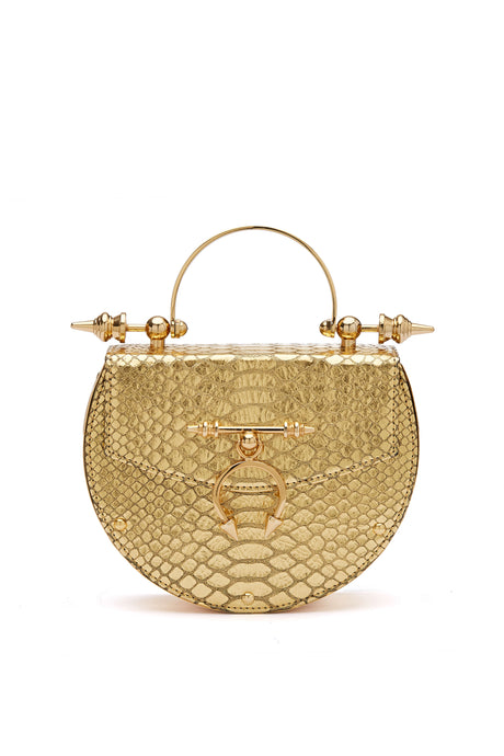 Gold Oak Python Crossbody