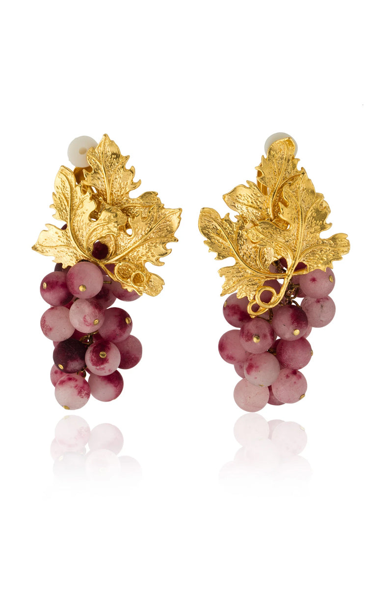 Peracas Adile Earrings in Plum