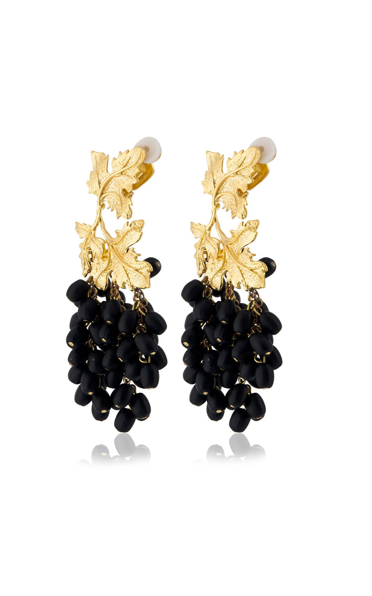 Peracas Laila Earrings in Black
