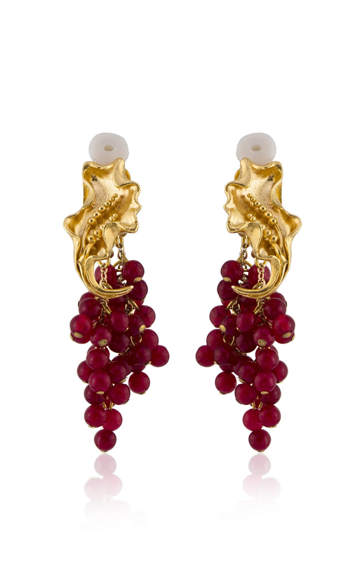 Peracas Franca Earrings in Red
