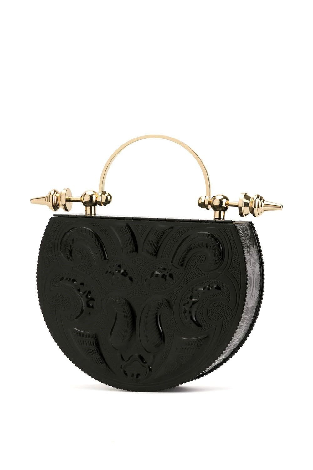 Oval Black Minaudière Embossed limited edition