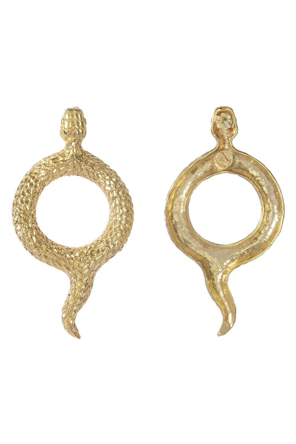 antique snake earrings