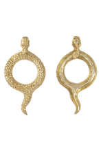 Load image into Gallery viewer, antique snake earrings