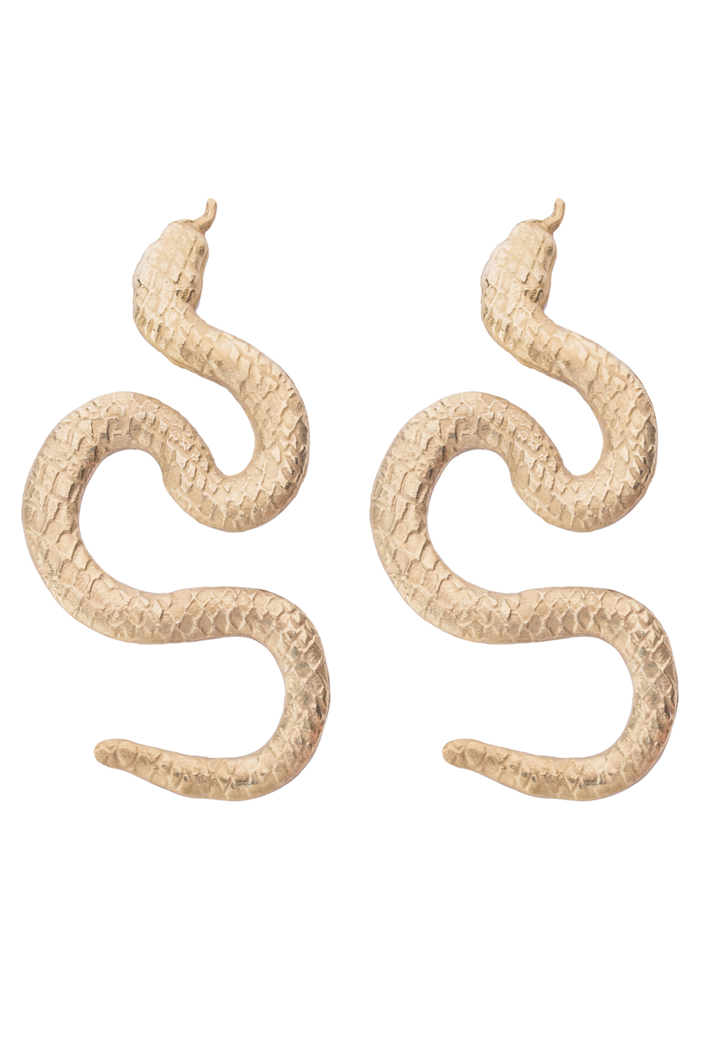 Gold Plated Small Snake Earrings