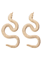 Load image into Gallery viewer, Gold Plated Small Snake Earrings