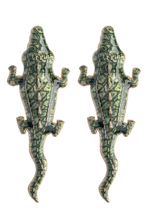 Load image into Gallery viewer, Green Alligator Earrings