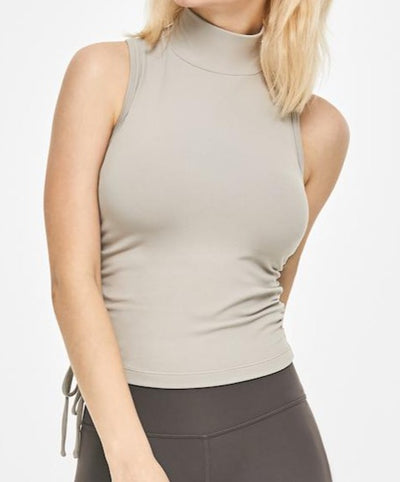 Shrink High Neck Tank Top