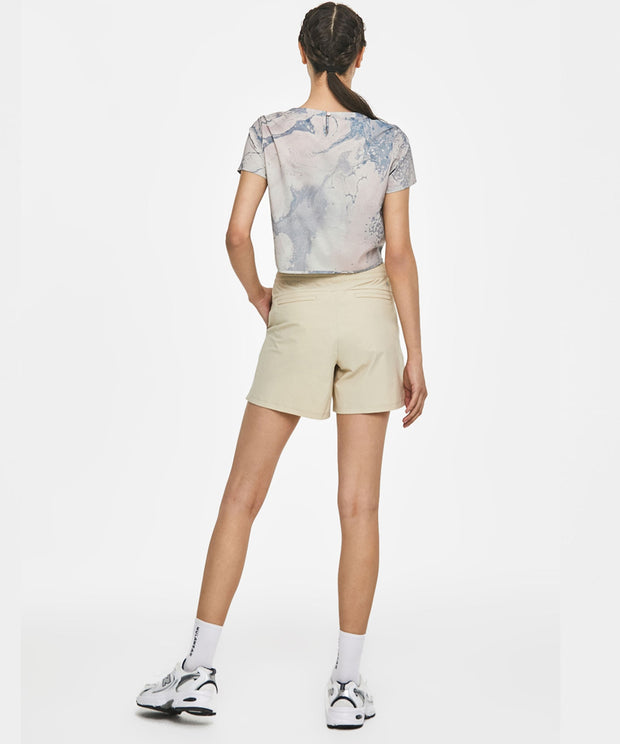 Modern shape short pants - Light brown