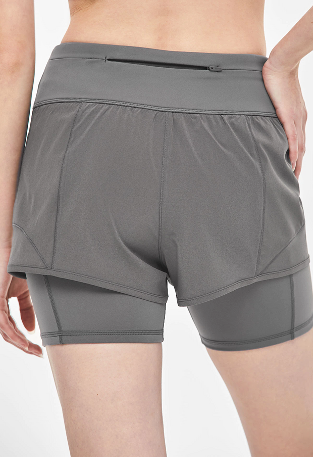 Flex leggings short pants - Granite gray