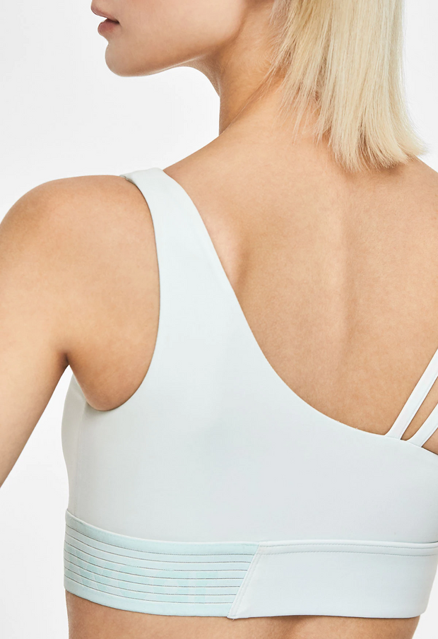 Unbalanced strap short bra top